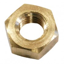 Hex Full Nut Brass Self Colour