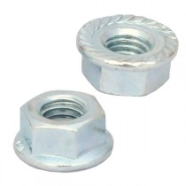 Serrated Flange Nuts Bright Zinc Plated