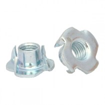 Pronged Tee Nuts Bright Zinc Plated