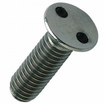 2 Hole Security Countersunk Machine Screw Stainless A2 304