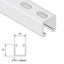 Unistrut Light Gauge Deep Slotted Channel