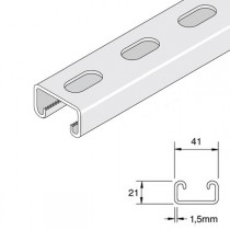 Unistrut Shallow Light Gauge Slotted Channel