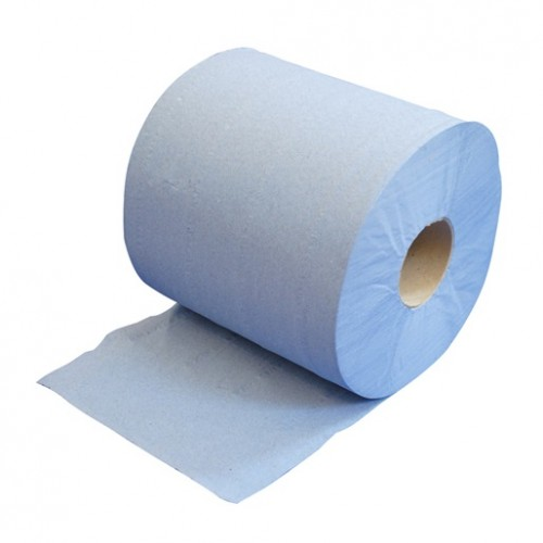 Blue Centre Feed Toweling Rolls