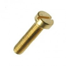 Pan Slot Machine Screw Brass Self Colour