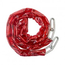 Case Hardened Security Chain Red PVC Sleeve