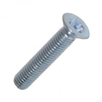 Countersunk Pozi Machine Screw Bright Zinc Plated