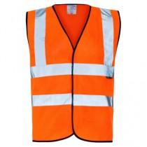 Class 2 Hi Visibility Orange Waistcoats