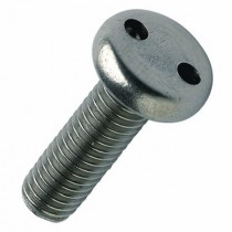 2 Hole Security Pan Machine Screw Stainless Steel A2 304