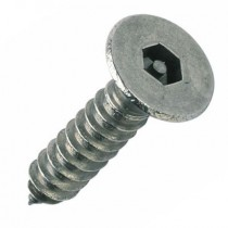 Pin Hex Countersunk Self Tapping Screw Stainless A2 304