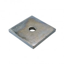 Square Plate Washers Bright Zinc Plated