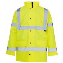 Hi Visibility Yellow Traffic Parka