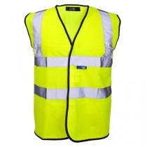 Class 2 Hi Visibility Yellow Waistcoats