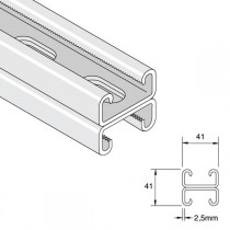 Unistrut Shallow Slotted Back To Back Channel