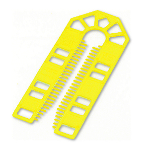 101 x 43 x 1mm Plastic Packing U Shim Yellow