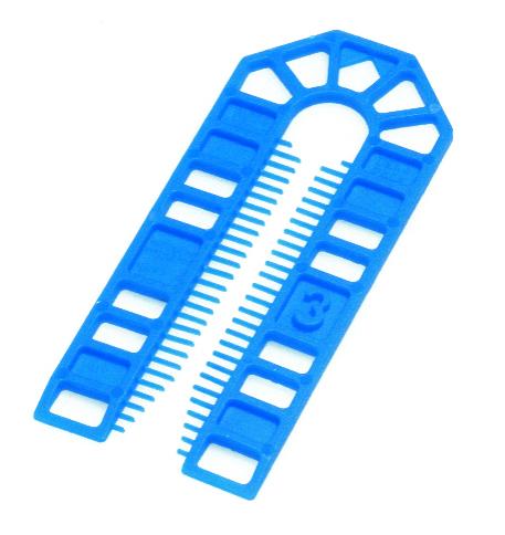 101 x 43 x 3mm Plastic Packing U Shim Blue