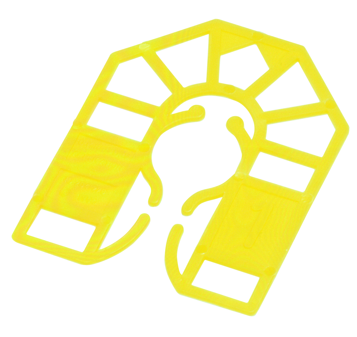 55 x 43 x 1mm Plastic Packing U Shim Yellow