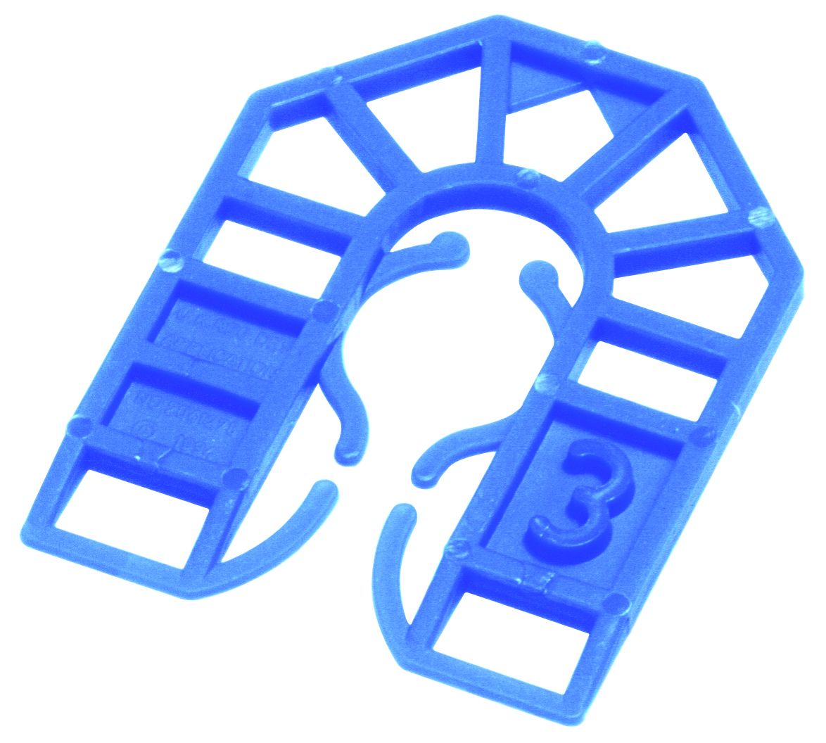 55 x 43 x 3mm Plastic Packing U Shim Blue