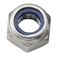 M2.5 Nylon Insert Nut Stainless Steel