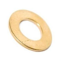 M6 Form A Flat Washer Brass Self Colour