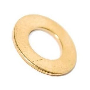 M6 Form B Flat Washer Brass Self Colour