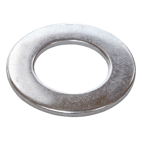 M10 Form B Flat Washer Mild Steel Bright Zinc