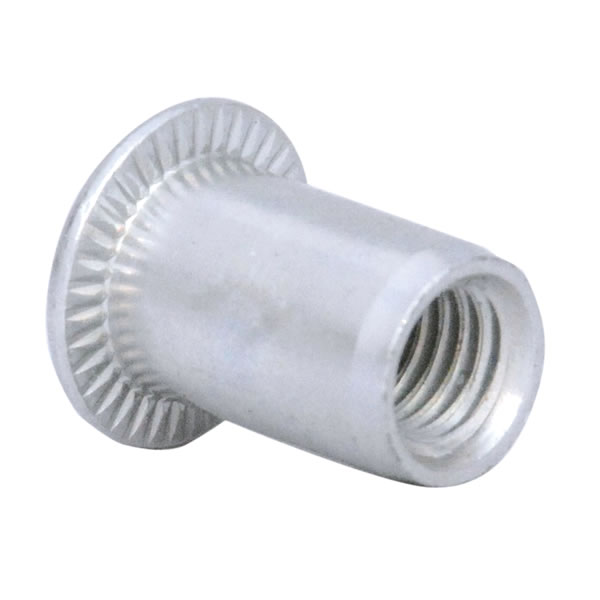M6 Flange Head Steel Rivet Nut Bright Zinc