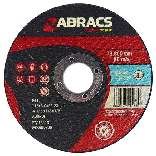 125 x 3.0 x 22mm Flat Metal Cutting Disc