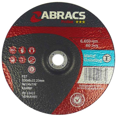 100 x 6.0 x 16mm Metal DPC Grinding Disc