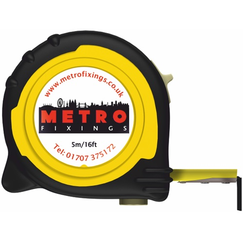Metro Fixings 5m/16ft Tape Measure