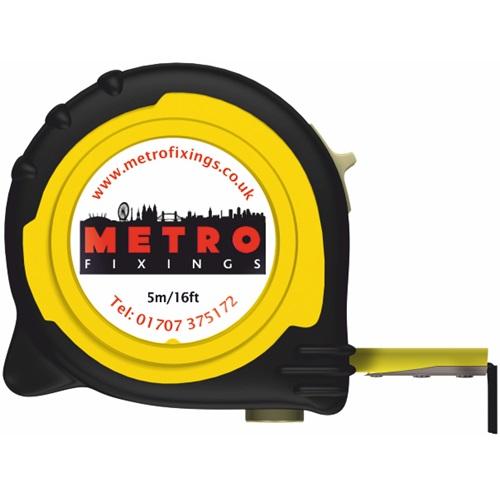 Metro Fixings 5m/16ft Tape Measure