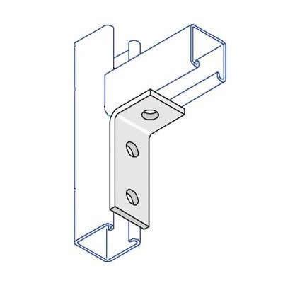 BA002 90 Degree Angle Bracket - 3 Hole