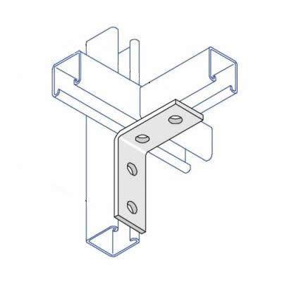 BA003 90 Degree Angle Bracket - 4 Hole