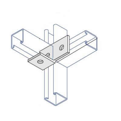 BA006 90 Deg L/Hand Angle Bracket - 4 Hole