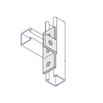 BA008 Right Angle Centre Tee Bracket - 4 Hole