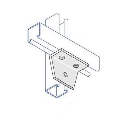 BA010 90 Degree Delta Plate Bracket  3 Hole