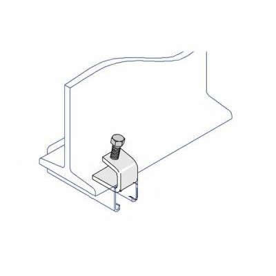 BC003 C Shape Tapped Beam Clamp