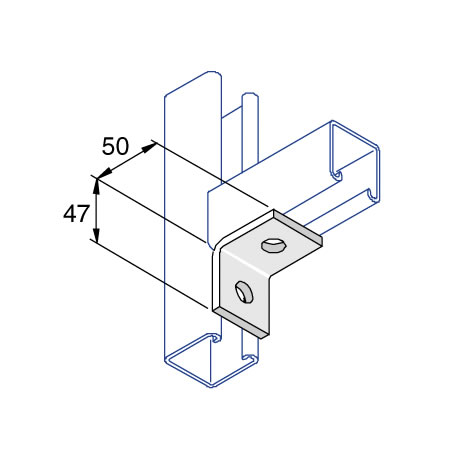 Unistrut P1026 90 Degree Angle Bracket 2 Hole