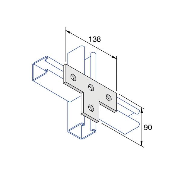 Unistrut P1031 T Flat Plate Washer 4 Hole