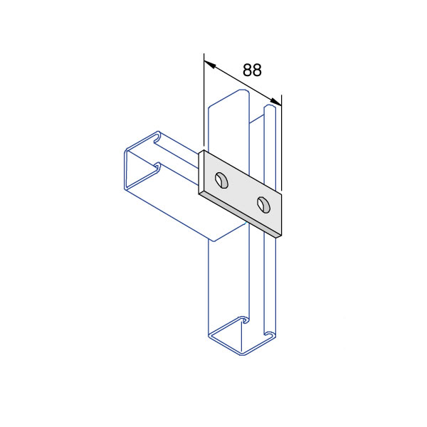 Unistrut P1065 Flat Square Plate 2 Hole