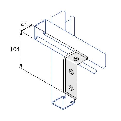 Unistrut P1326 90 Degree Angle Bracket 3 Hole