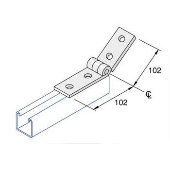 Unistrut P1354 4 Hole Variable Angle Fitting