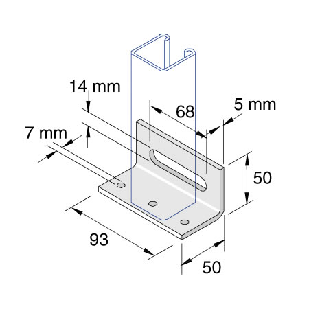 Unistrut P2072-S3 Wood Screw Base Plate