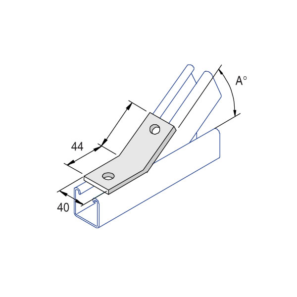 Unistrut P2095 75 Degree Angle Fitting