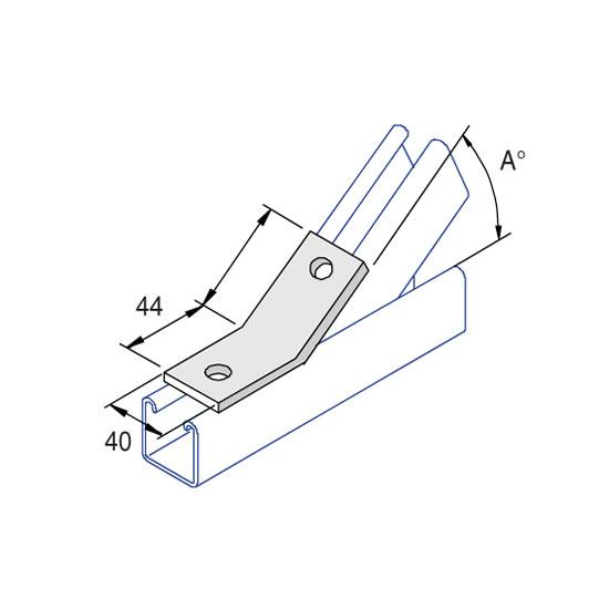 Unistrut P2097 60 Degree Angle Fitting
