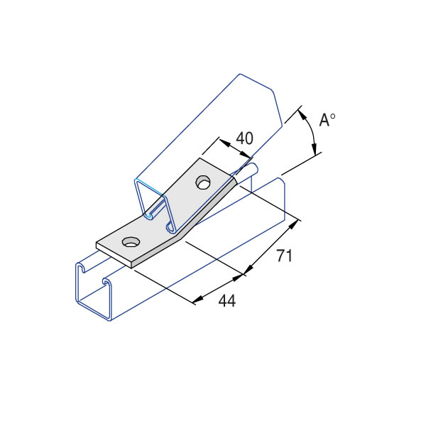 Unistrut P2103 15 Degree Angle Bracket 2 Hole