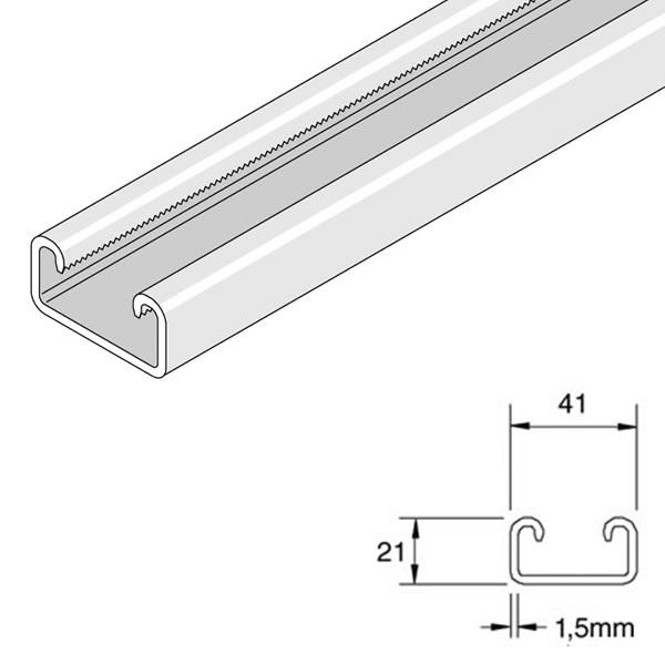 Unistrut P4000 Shallow Plain Channel x 3m