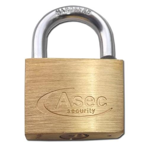 Asec Brass 50mm Padlock - Mastered