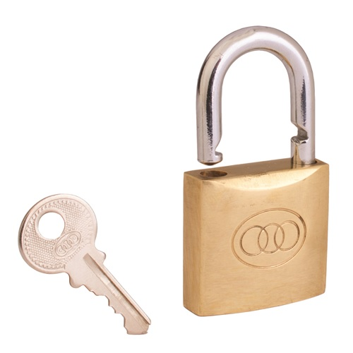 Tri-Circle No. 611  Brass 63mm Padlock