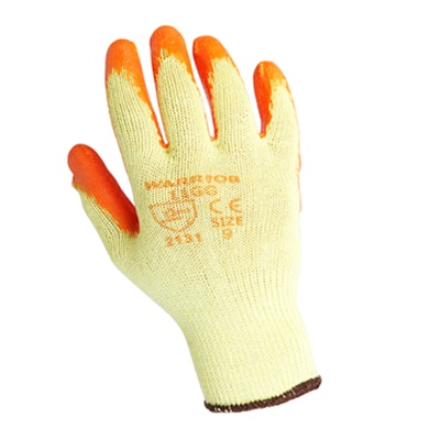 Warrior Grip Orange Builders Safety Glove
