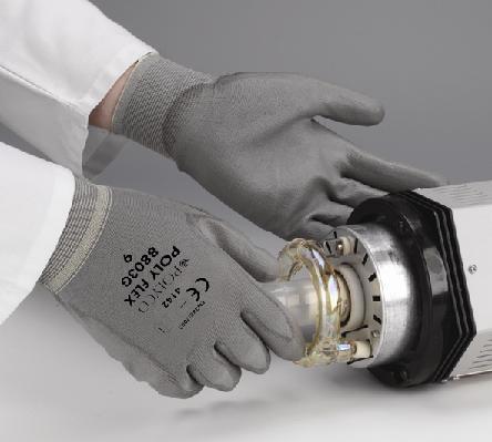 Poly Flex Safety Glove Grey Size 6